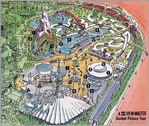 View-Master Tomorrowland (A179), Map of Tomorrowland