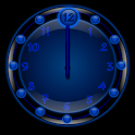 Sleek Blue Clock Widget icon