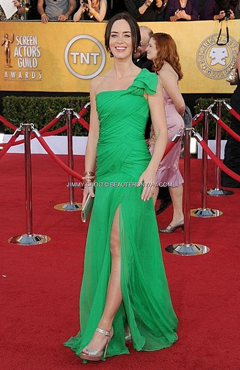 Jimmy Choo Linda Emily Blunt 18th Annual SCREEN ACTORS GUILD AWARDS LA 2012 SAG Awards