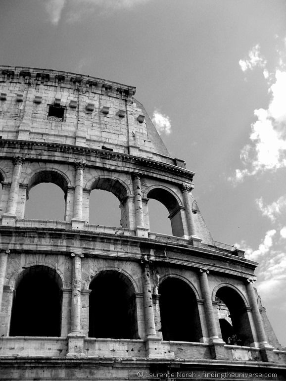 Rome Coliseum black and white