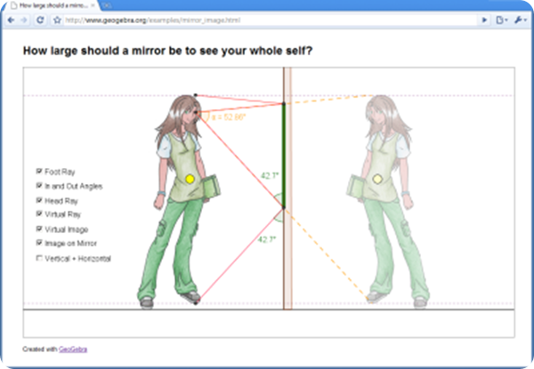 geogebra graphics-view-mirror