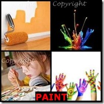 PAINT- 4 Pics 1 Word Answers 3 Letters