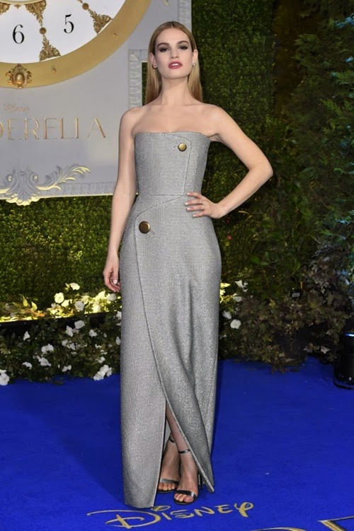 Lily James-Cinderella-premiere-london