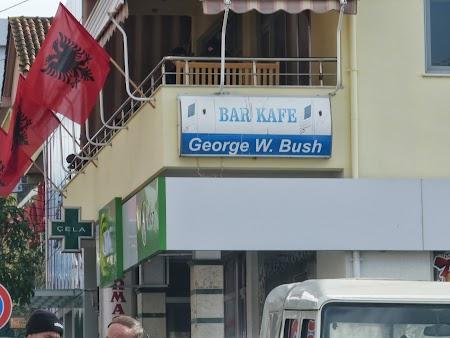 Bar George W Bush in Albania