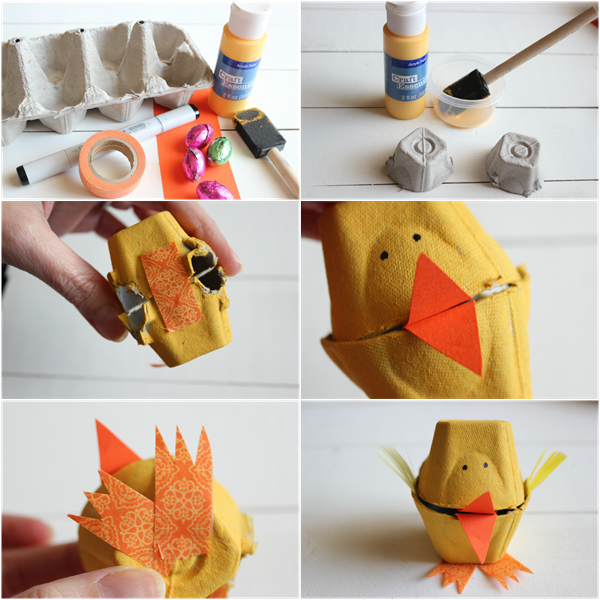 Egg Carton Easter Chick