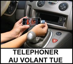 telephoner au volant tue
