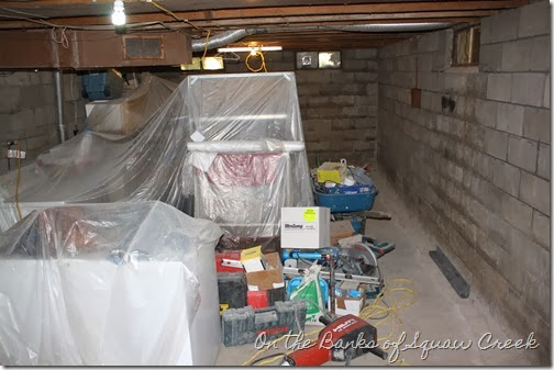 yucky basement before