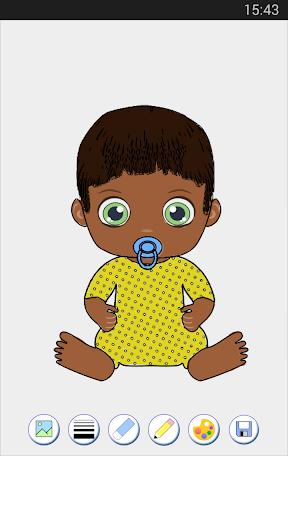 嬰兒 著色頁