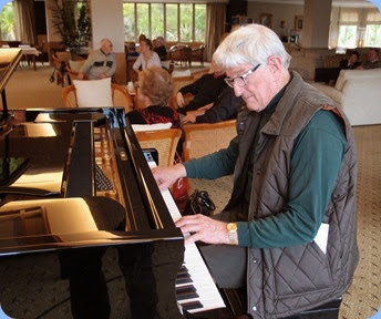 Bennie Gunn gave a recital on the grand piano during the lunch break. Photo courtesy of Dennis Lyons