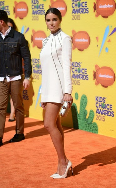 Olivia Culpo attends Nickelodeon's 28th Annual Kids' Choice Awards