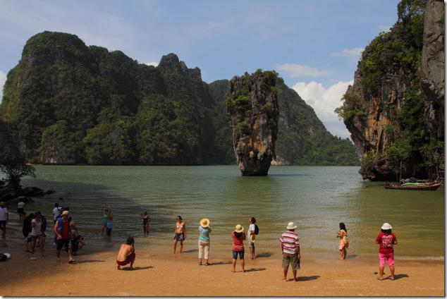 The famous James Bond Island in Phang Nga Bay, Thailand