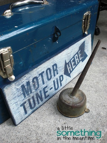 Tune Up Sign Oil Can WM