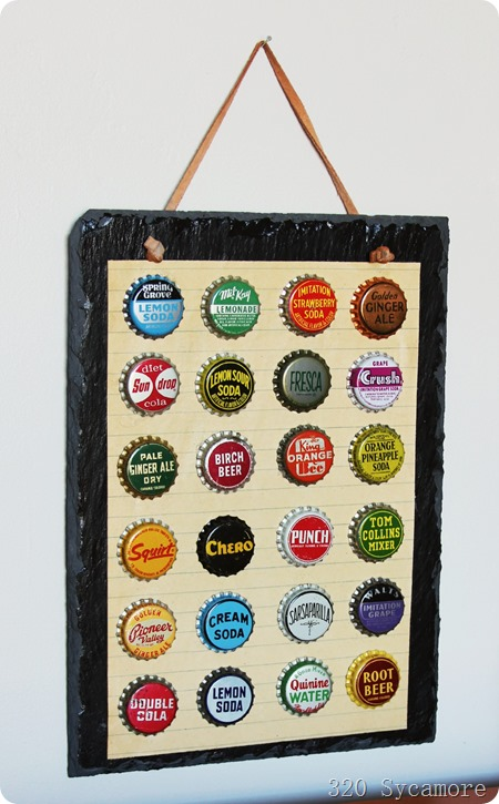 bottle cap artwork