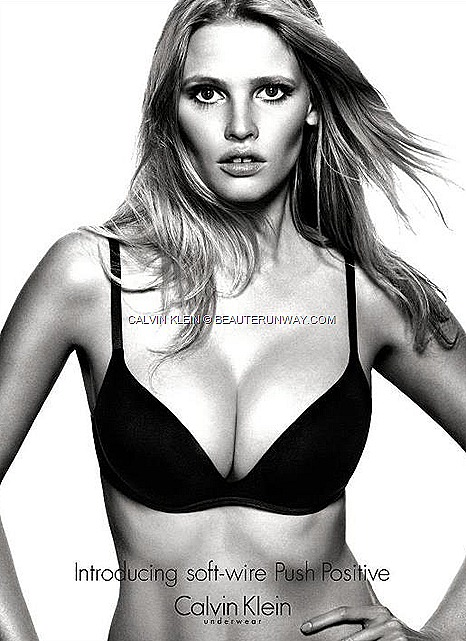 Calvin Klein Underwear Women Fall Winter 2012 2013 Collection Lara Stone new Calvin Klein Push Positive revolutionary new push-up bra cleavage, comfort  lift  natural, seamless look under clothes