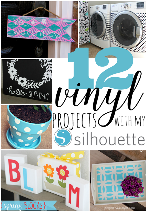 12 Vinyl Projects with my Silhouette at GingerSnapCrafts.com #Silhouette #SilhouetteRocks #vinyl