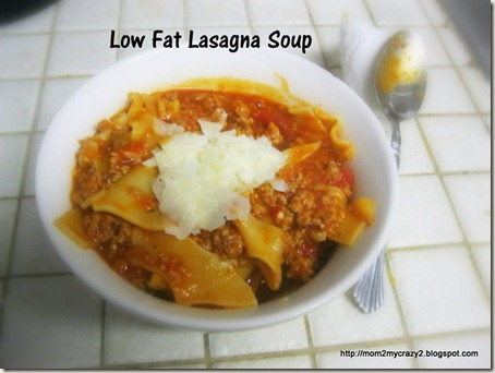 Low Fat Lasagna Soup