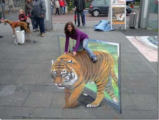 TV Tiger, Berlin, Germany. 3D Painting