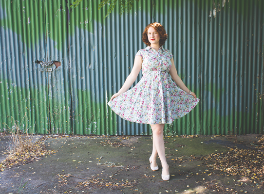 Maggie Tang 1950's reproduction shirtwaist dress | Lavender & Twill