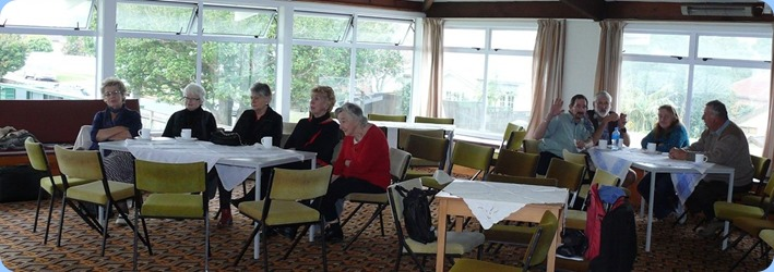 Members and guests enjoying the music on Coffee Day. Photo courtesy of Dennis Lyons.