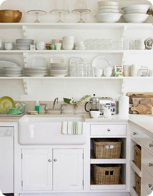 love the baskets farmhouse sink