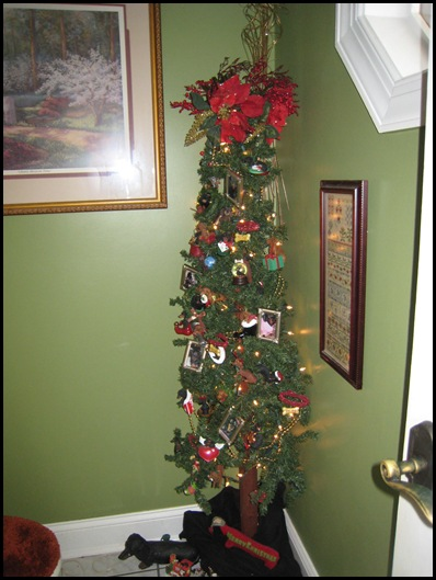 half bathroom dachshund tree