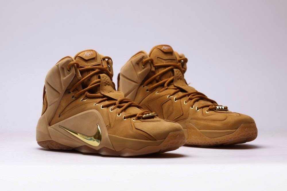 4aaabe8ad8ab Additional Look at Upcoming 8220Wheat8221 Nike LeBron XII EXT QS ...