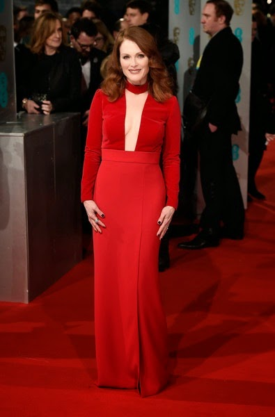 Julianne Moore attends the EE British Academy Film Awards