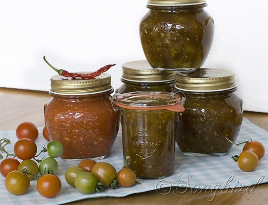 Green and Red Tomato Chutney