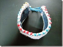 Recycle denim bracelet 02
