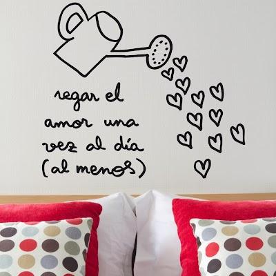 Decoración con corazones en la pared de tu casa
