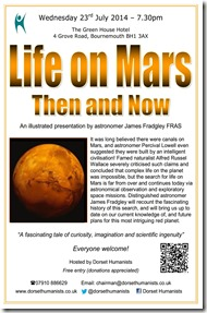 Life on Mars - then and now 23rd July 2014