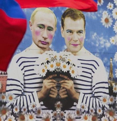 gay medvedev putin berlin
