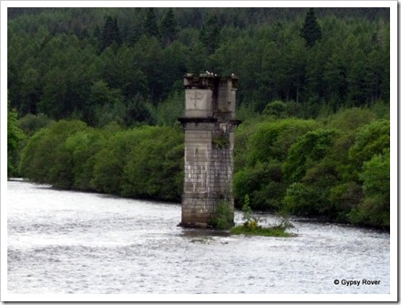 All that remains of the Glengarry to Fort Agutus Railway over Loch Ness.