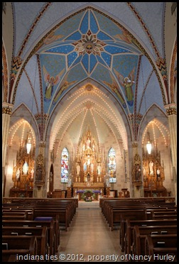Inside of Sacred Heart Catholic Church taken by Nancy Hurley after the fire restoratoin in 2001.