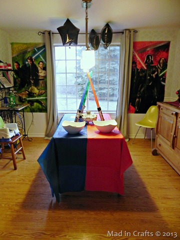 dining room decorated