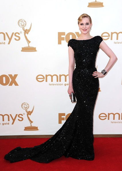 Evan Rachel Wood arrives at the 63rd Annual Primetime Emmy Awards