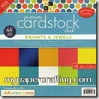 dcwv brights and jewels cardstock-200