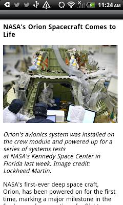 News from NASA Free - screenshot