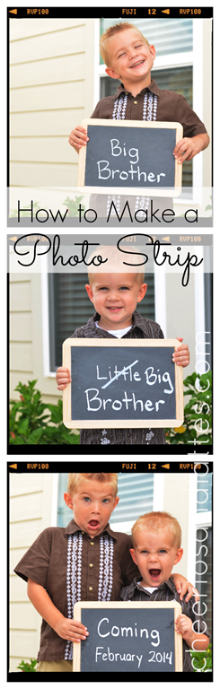 How-to-Make-a-Photo-Strip-with-Pic-Monkey-picmonkey-photo-strip-pregnancyannouncement-birthannouncement-