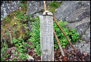 02 - Trailhead marker with cairn and poles
