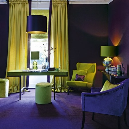 Purple-and-yellow-living-room