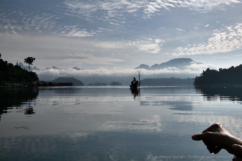 long tail boat on khao sok lake