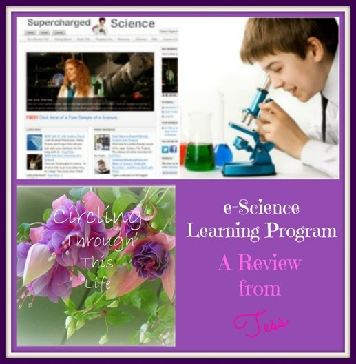 e-Science Program homeschool science review at Circling Through This Life