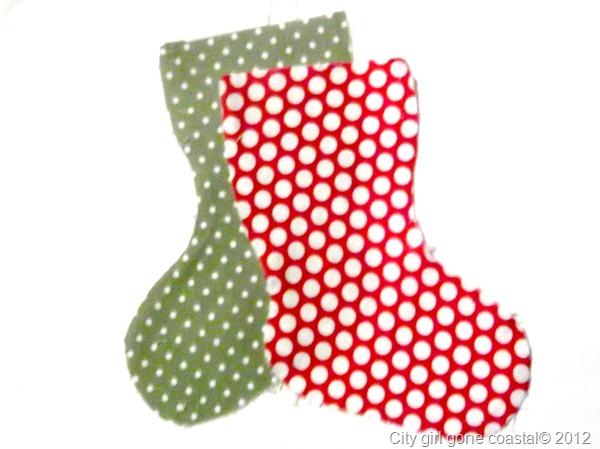 fabric stocking pieces