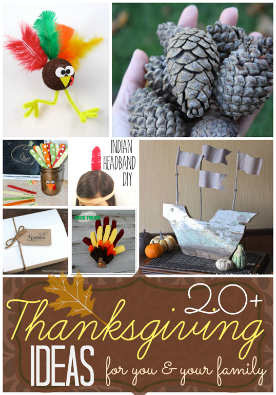 Over 20 Thanksgiving Ideas for you & your family at GingerSnapCrafts.com #Thansgiving #DIY #craft