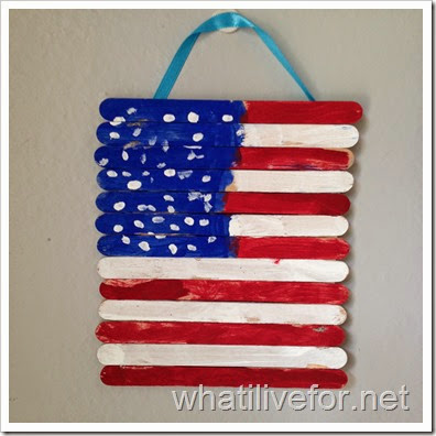Popsicle Stick American Flag @ whatilivefor.net