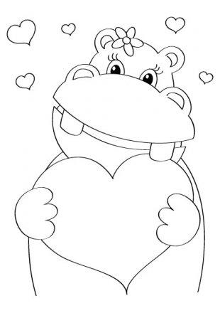 hipopotamo enamorado