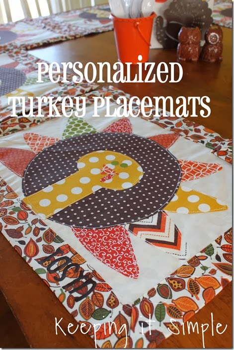 personalized turkey placemats