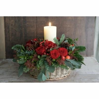 Decoraci n navide a con pi as ideas sencillas y econ micas - Centro de navidad con velas ...