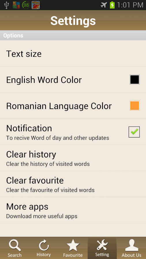 Romanian Dictionary Pro - screenshot